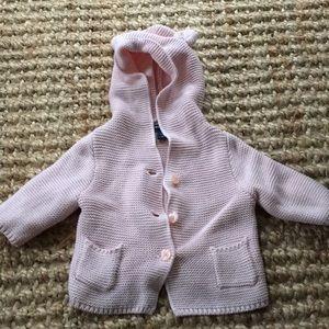 Baby knit bear sweater